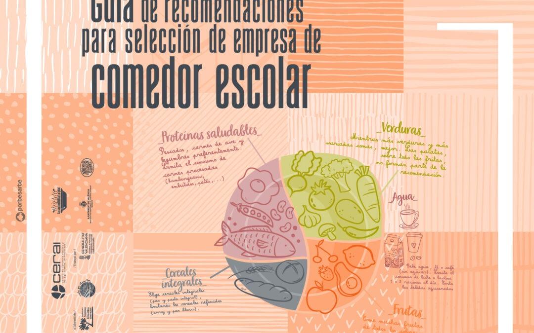Una guía para seleccionar empresa de comedor escolar bajo criterios de sostenibilidad